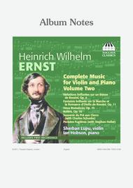 Volume 2: Complete Music for Violin