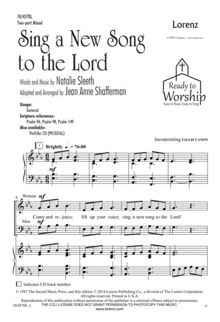 Sing a New Song to the Lord
