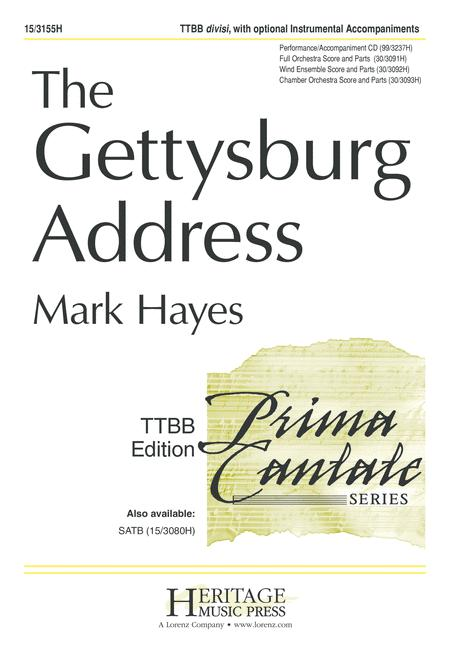 Download The Gettysburg Address Sheet Music By Mark Hayes Sheet