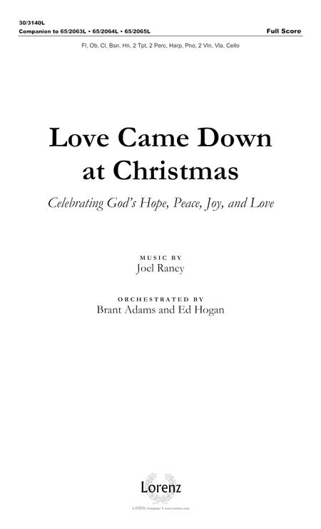 Love Came Down at Christmas - Full Score