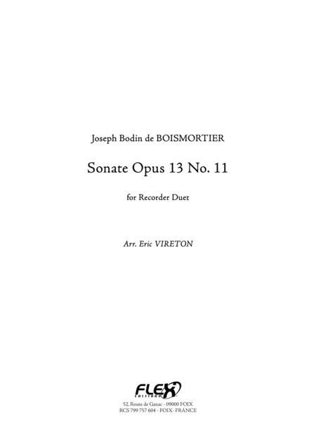 Sonata Opus 13 No. 11