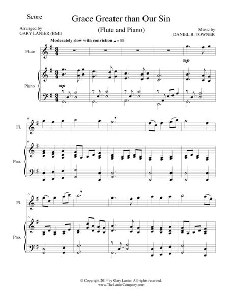 GRACE GREATER THAN OUR SIN (Flute/Piano and Flute Part)