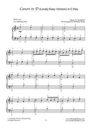 picture regarding Canon in D Piano Sheet Music Free Printable called Down load Canon Inside D - Uncomplicated Piano Solo (With Fingerings