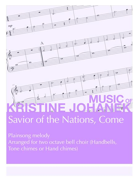 Savior of the Nations, Come (2 octave handbells, tone chimes or hand chimes)