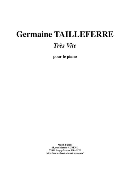 Germaine Tailleferre - Très Vite for piano