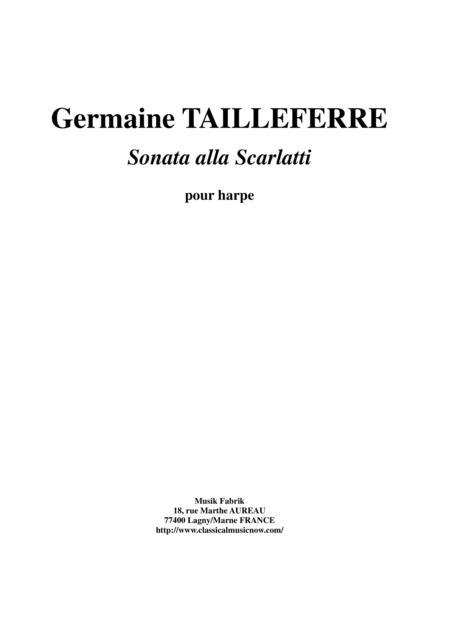 Germaine Tailleferre - Sonata Alla Scarlatti for harp