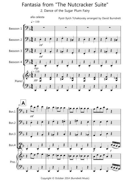 Dance of the Sugar Plum Fairy (fantasia from Nutcracker) for Bassoon Quartet