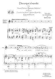 Puccini-M.Butterfly (Act1) Dovunque al mondo-Tenor, Baritone and piano