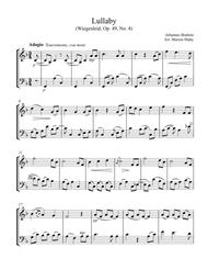 Brahms Lullaby arr. for violin & cello duet