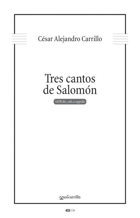 Tres cantos de Salomon