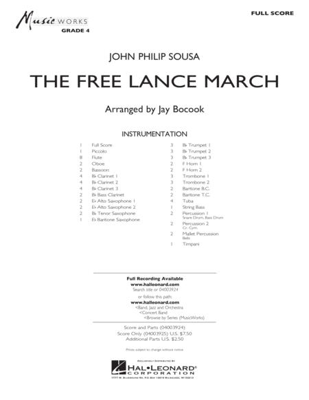 The Free Lance March - Conductor Score (Full Score)