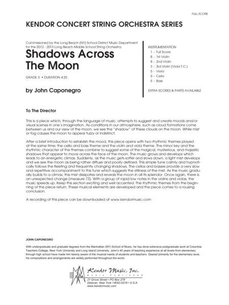 Shadows Across The Moon - Conductor Score (Full Score)