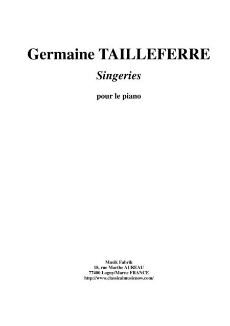 Germaine Tailleferre - Singeries for piano