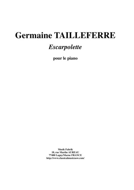 Germaine Tailleferre - Escarpolette for piano
