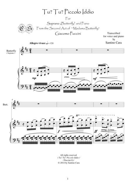 Puccini-M.Butterfly (Act2-part II) Tu? Tu? Piccolo Iddio -Soprano and piano