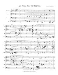 Lo, How a Rose E'er Blooming - Christmas Hymn (for mixed brass quartet)