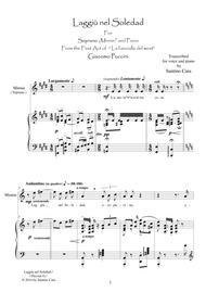 Puccini-La F.del W._Act1 Laggiù nel soledad-Soprano and piano
