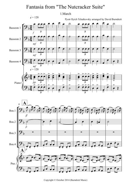 March (fantasia from the Nutcracker) for Bassoon Quartet