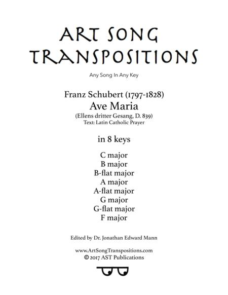 Ave Maria, D. 839 (in 8 keys, Latin)