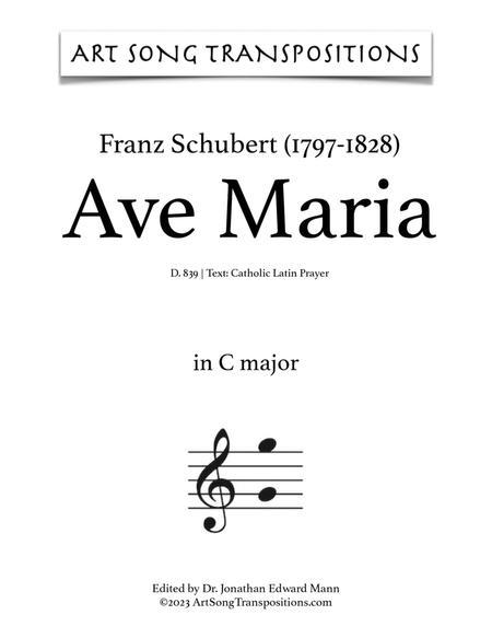 Ave Maria, D. 839 (C major, Latin)