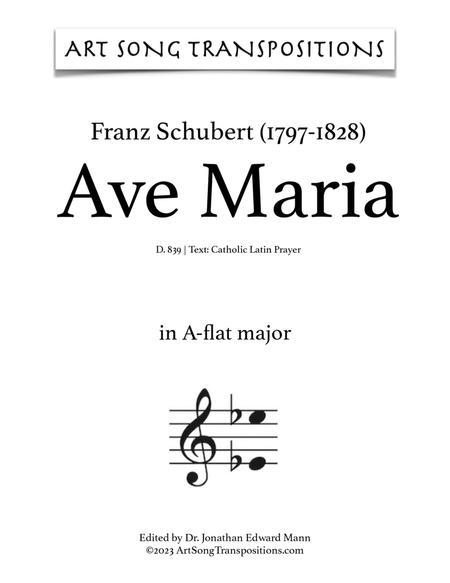 Ave Maria, D. 839 (A-flat major, Latin)