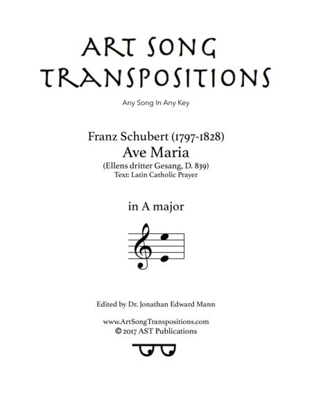 Ave Maria, D. 839 (A major, Latin)