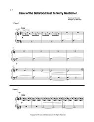 Carol of the Bells / God Rest Ye Merry Gentlemen  - 1 Piano, Six Hands