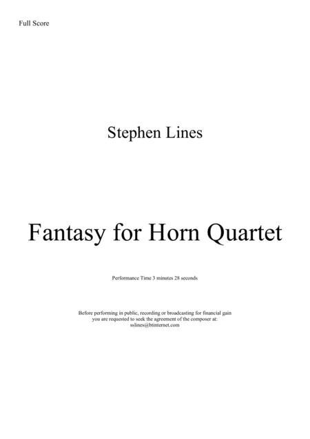 Fantasy for four horns
