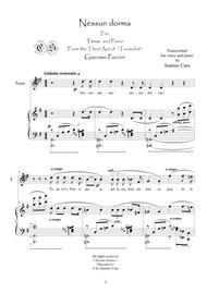 Puccini-Turandot_Act3 Nessun dorma-Tenor and piano