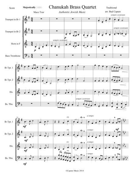 Hanukkah Medley for Brass Quartet-Score and Parts