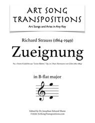 Zueignung, Op. 10 no. 1 (B-flat major)