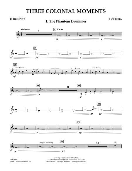 Three Colonial Moments - Bb Trumpet 3