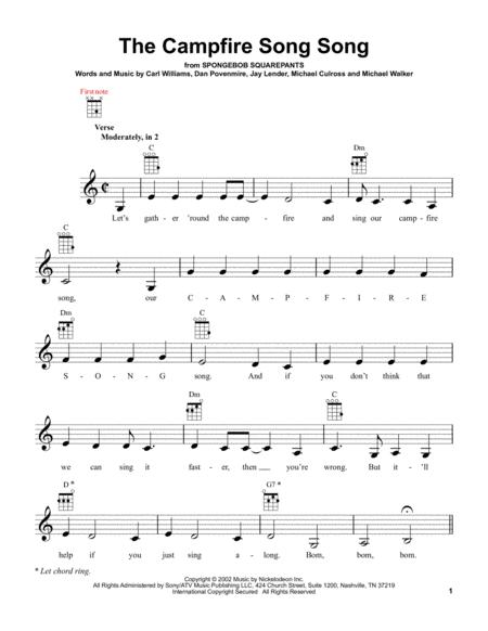 Download The Campfire Song Song Sheet Music By SpongeBob SquarePants ...