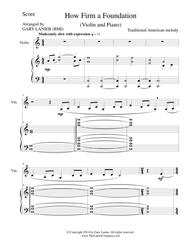 HOW FIRM A FOUNDATION (Violin/Piano and Violin Part)