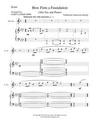 HOW FIRM A FOUNDATION (Alto Sax/Piano and Sax Part)
