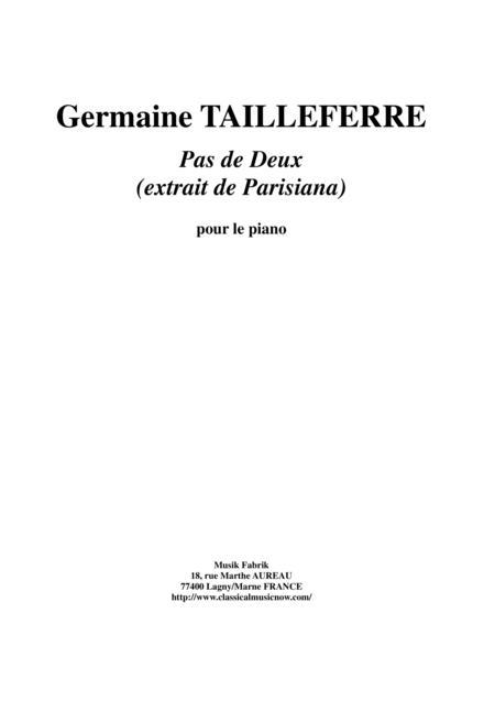 Germaine Tailleferre - Pas de Deux for piano