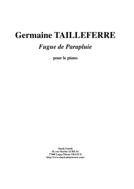 Germaine Tailleferre - Fugue de Parapluie for piano
