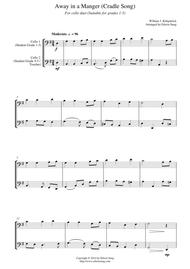 Away in a Manger (Cradle Song) (for cello duet, suitable for grades 1-5)