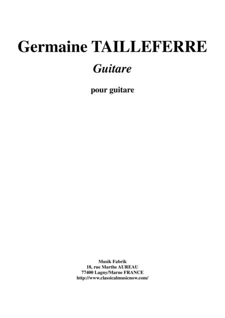 Germaine Tailleferre - Guitare for guitar