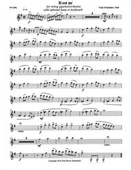 Il est ne (He Is Born) parts, arranged for string quartet or flute quartet with optional harp or keyboard