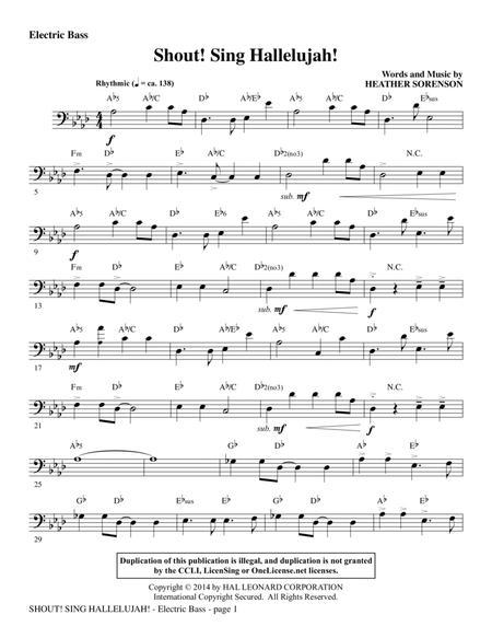 Shout! Sing Hallelujah! - Electric Bass