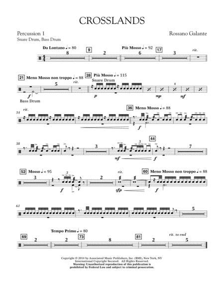 Crosslands - Percussion 1
