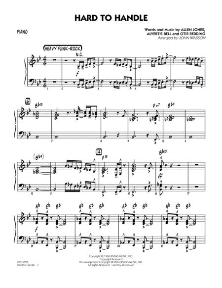 Hard to Handle - Piano