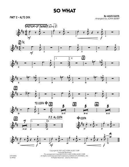 So What - Part 2 - Eb Alto Sax