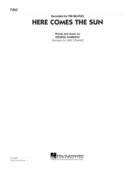 Here Comes the Sun - Piano