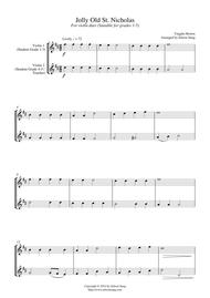 Jolly Old St. Nicholas (for violin duet, suitable for grades 1-5)