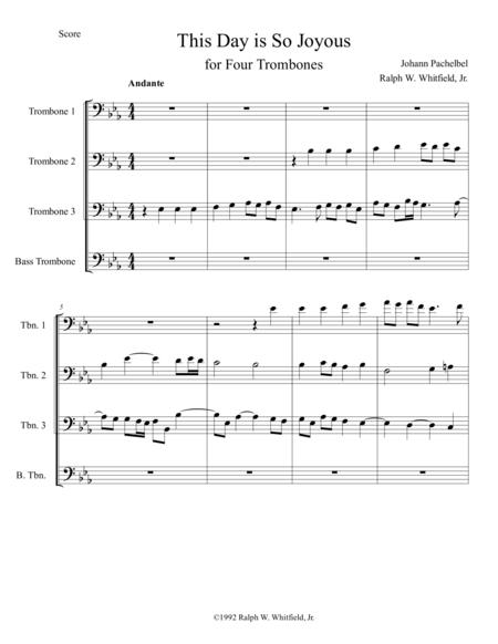 This Day is So Joyous - Trombone Quartet