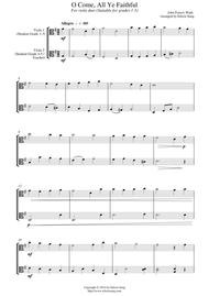 O Come, All Ye Faithful (for viola duet, suitable for grades 1-5)