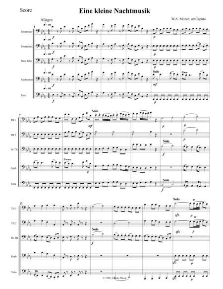 Low Brass-Eine kleine Nachtmusik-Score