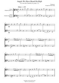 Angels We Have Heard On High (for trombone duet, suitable for grades 2-6)
